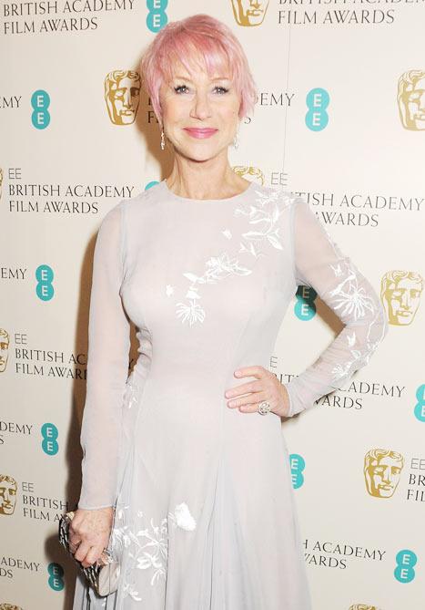 Helen Mirren at the BAFTAS 2013