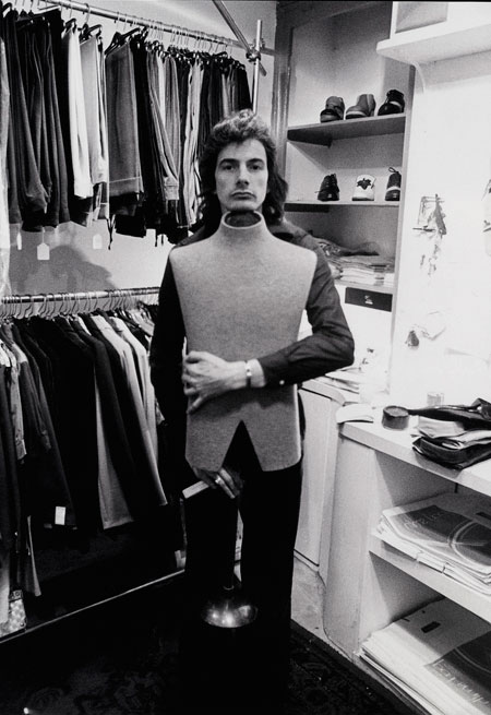 Paul Smith in his first shop in Nottingham