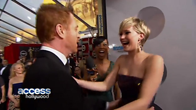 Jennifer Lawrence and Damien Lewis