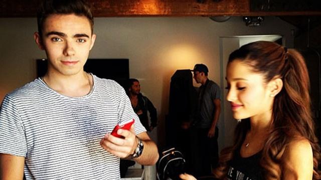 Ariana Grande with Nathan Sykes.