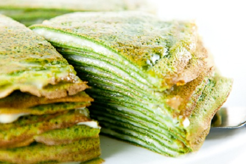 Green Tea Crepes