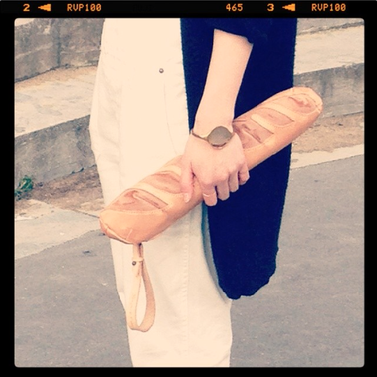 This baguette-inspired clutch purse wins the award for best street style.