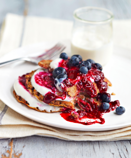 Honestly Healthy buckwheat pancakes.