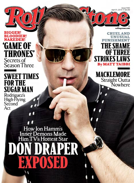 John Hamm on the cover of Rolling Stone.