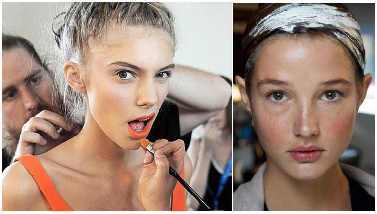 SS14 Beauty Trends: Prabal Gurung SS14, Louise Goldin SS14.