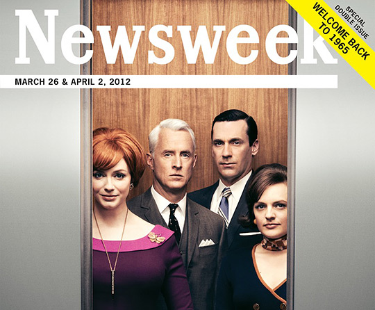 Mad Men cover on Newsweek.