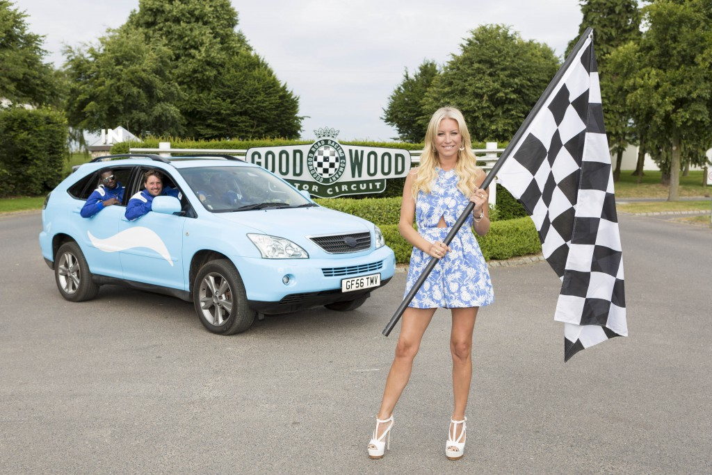 Denise Van Outen launches the Febreze Roadtrip at the Goodwood Festival of Speed.
