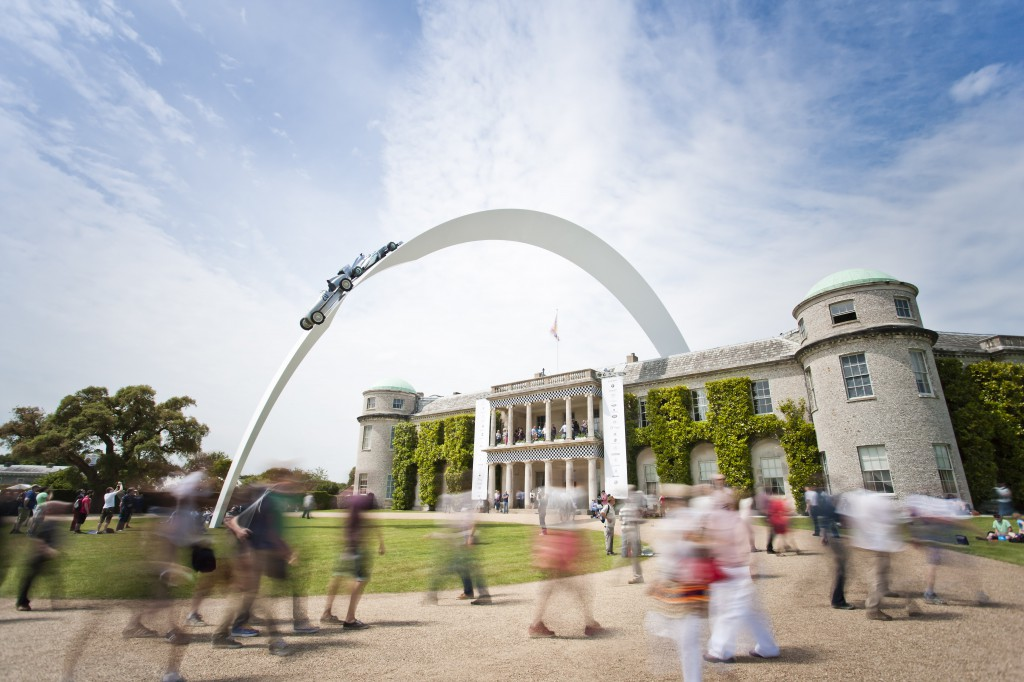 Goodwood House, the centre of the Festival of Speed.