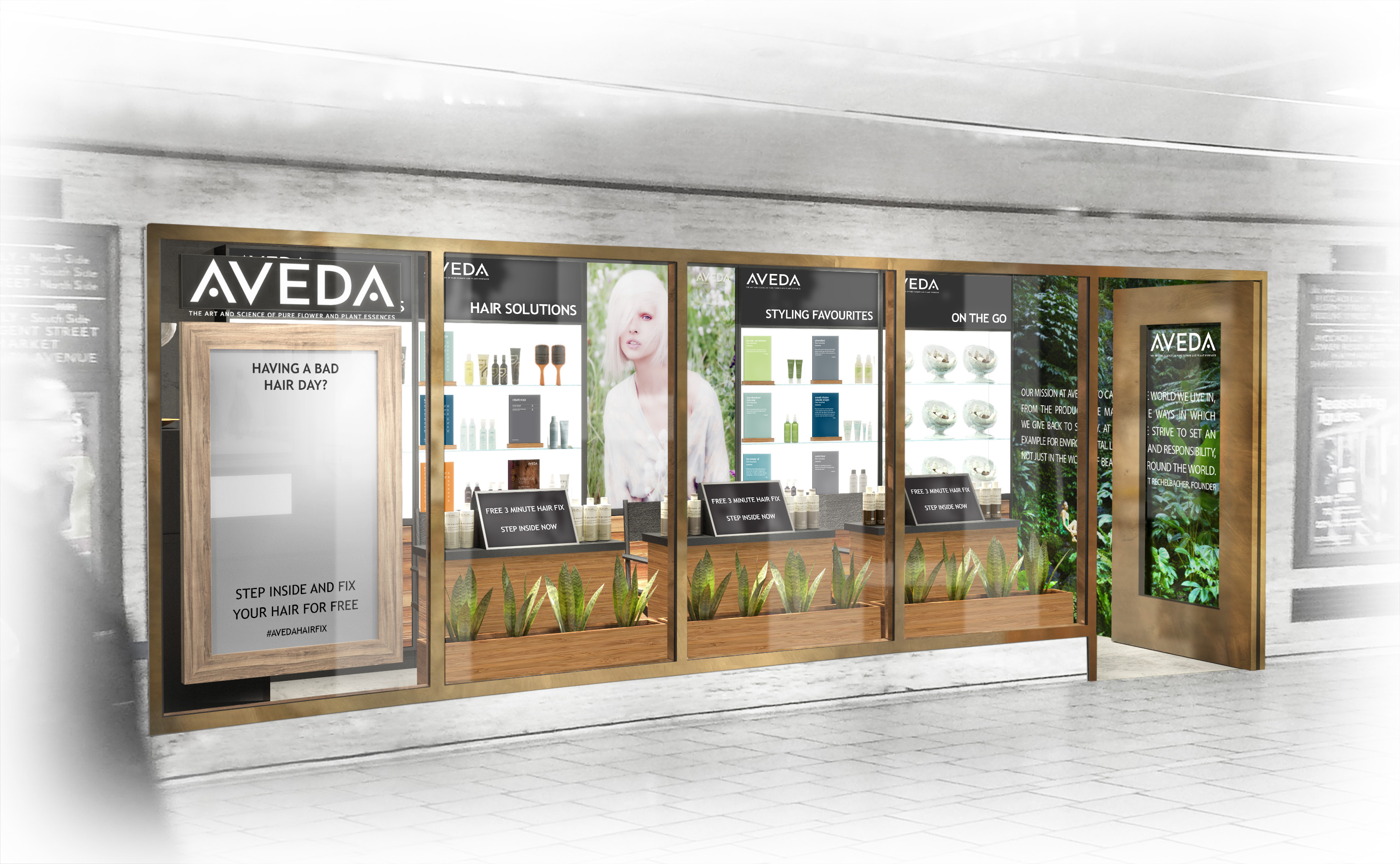 Aveda Pop Up Front
