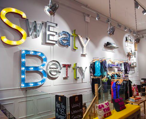 Sweaty Betty store interior
