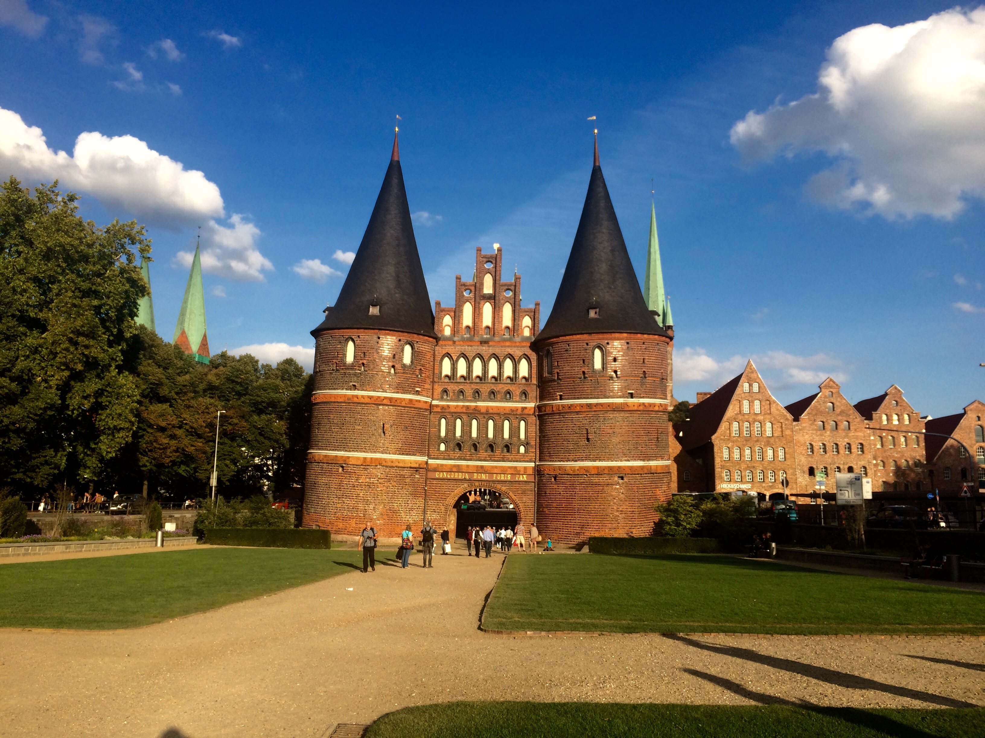 Holsten Gate in Lübeck, Germany