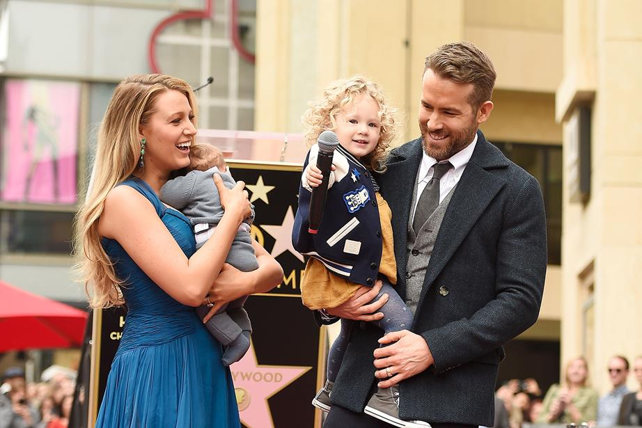 Blake Lively, her husband and daughters