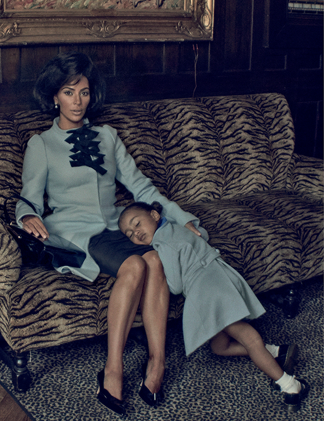 Kim Kardashina & North West in Interview Magazine