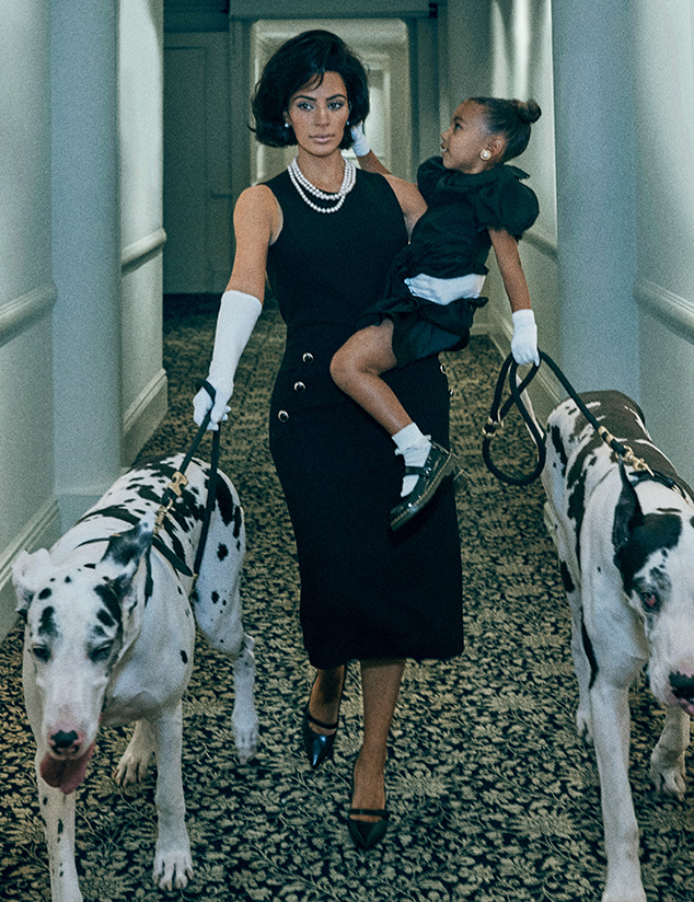 Kim Kardashian West & North West in Interview Magazine