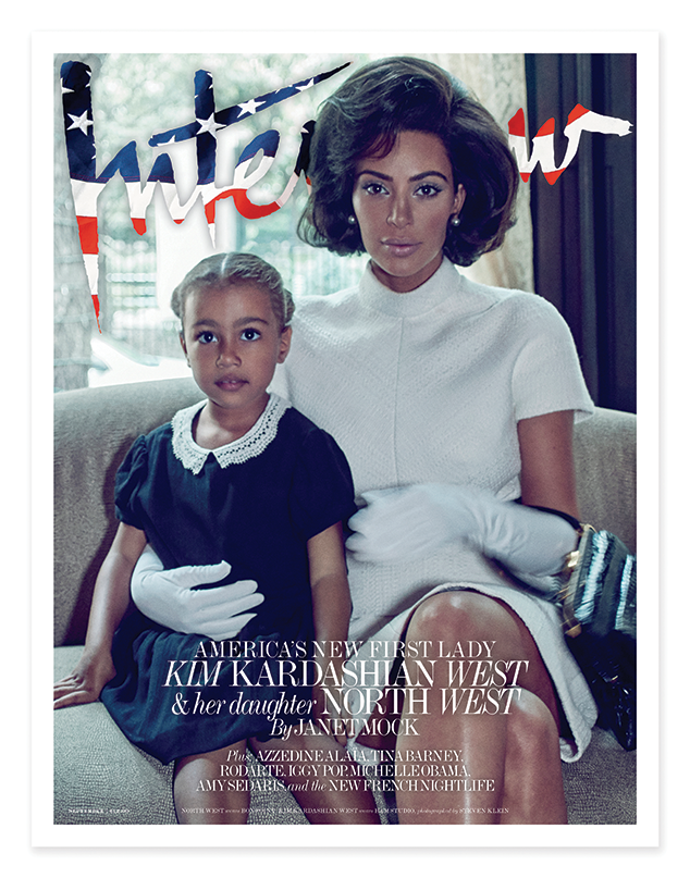 Kim Kardashian West & North West on the cover of Interview Magazine