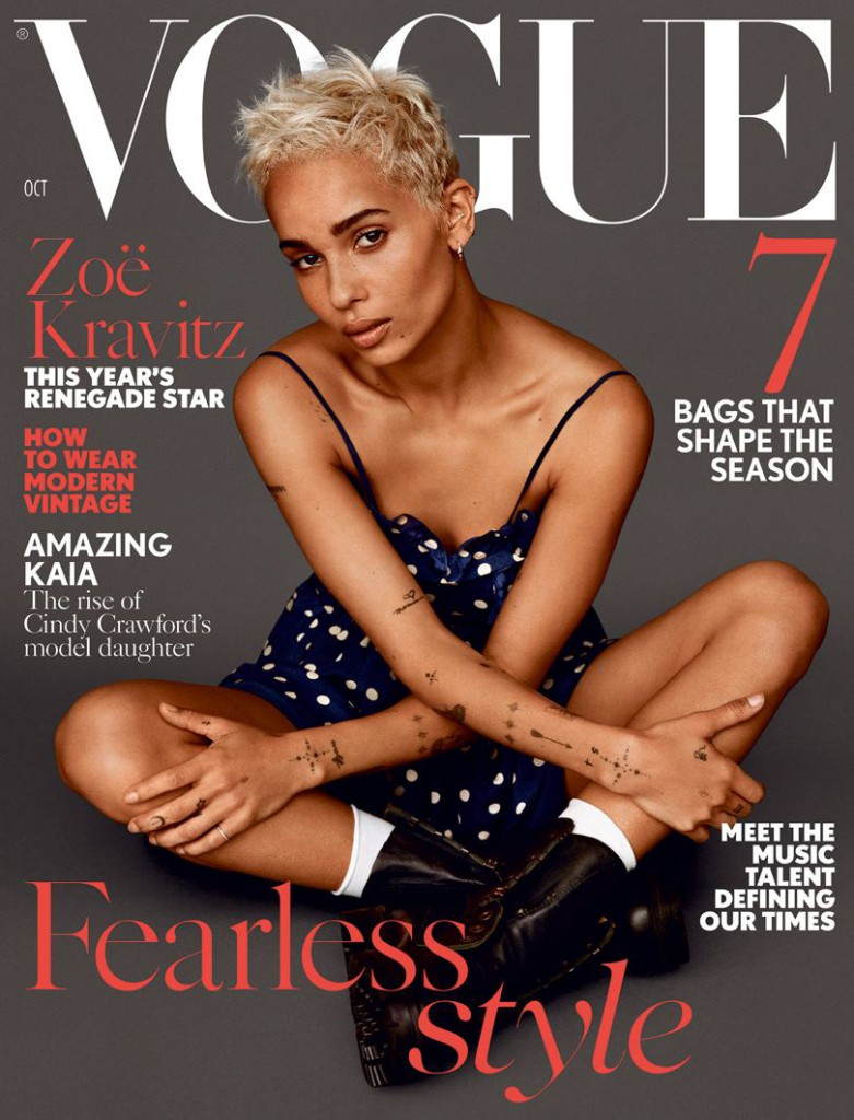 Zoe Kravitz on the cover of Vogue