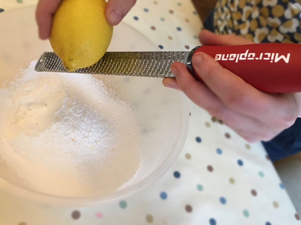 Baking a St. Clement's Cake using a Microplane Zester