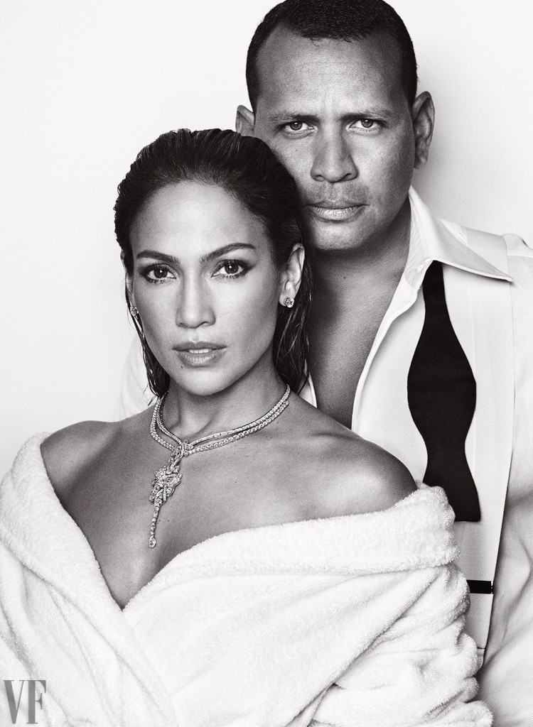 Jennifer Lopez & Alex Rodriguez on the cover of Vanity Fai