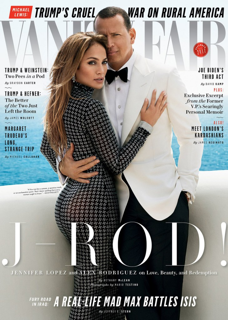 Jennifer Lopez & Alex Rodriguez on the cover of Vanity Fair